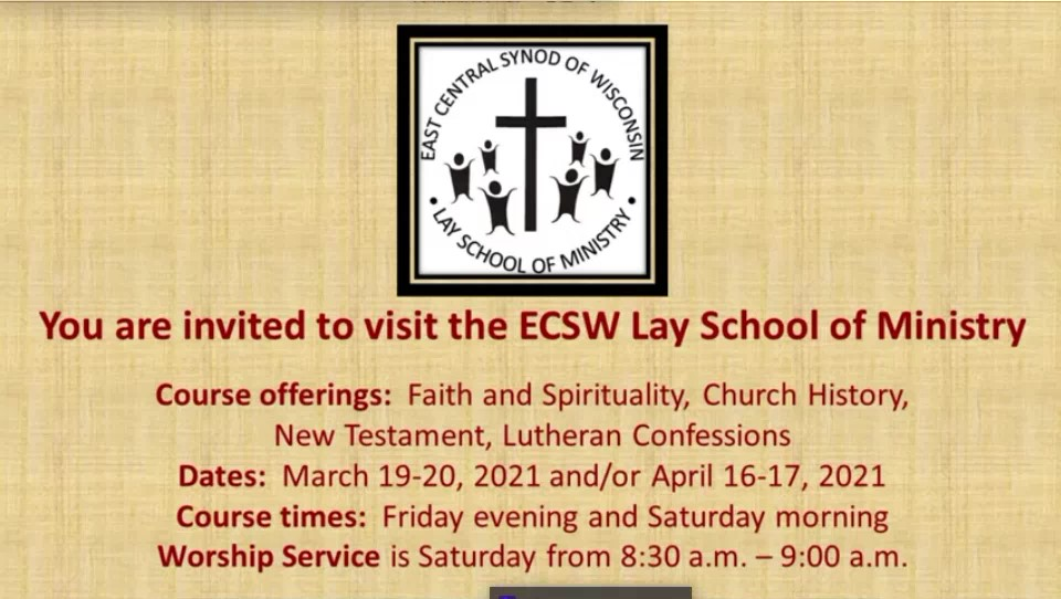 Be a Guest of ECSW Lay School of Ministry